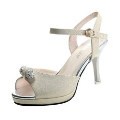T and Grade Women Fashion Peep Toe Little Ball Ankle Strap Sling Back Heel Sandals -- Don't get left behind, see this great  product : Hiking sandals