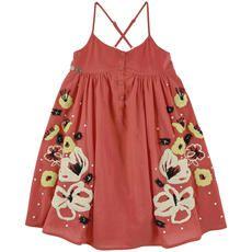 Chipie - Flared cotton poplin dress - Red - 105343