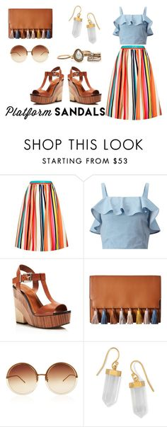 """""""#404"""" by anapaulavieira ❤ liked on Polyvore featuring Alice + Olivia, Miss Selfridge, Vince Camuto, Rebecca Minkoff, Linda Farrow and BillyTheTree"""