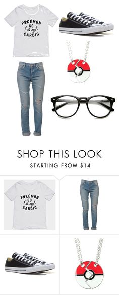 """""""Ready for Pokemon Go"""" by denisapurple ❤ liked on Polyvore featuring Yves Saint Laurent, Converse and Hot Topic"""
