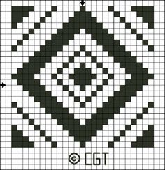 Free Tile Twelve Counted Cross Stitch Pattern - Printable Cross Stitch Chart: Free Single Color Tile Twelve Counted Cross Stitch Pattern - Printable Chart
