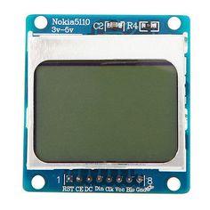 3.3V~5V White LCD Display Screen Backlight adapter PCB For Nokia 5110 Module