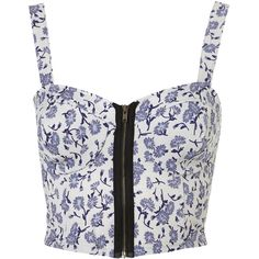 Floral Zip Bralet ($8) ❤ liked on Polyvore featuring tops, shirts, bralets, crop tops, zipper shirt, colorful crop tops, zipper top, floral print crop top and shirts & tops