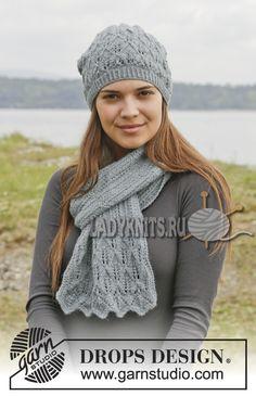 ажурная шапка и шарф спицами