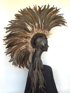 I would wear this around the house everyday!!! Made to Order Large Warrior Feather Mohawk