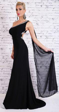 Dámské plesové šaty One Shoulder, Formal Dresses, Fashion, Dresses For Formal, Moda, Fashion Styles, Fasion, Gowns, Evening Dresses