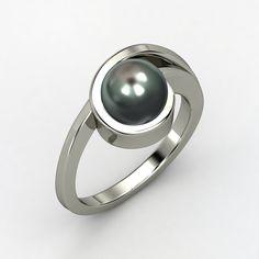 Sphere Tahitian Cultured Pearl, Solitaire