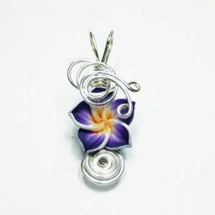 Made to order design 14 aromatherapy wire wrapped polymer clay made to order design 14 aromatherapy wire wrapped polymer clay tropical flower bead perfume pendant products i create pinterest tropical flowers aloadofball Images