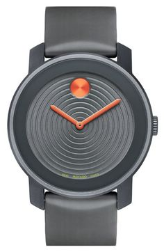 Movado 'Large Bold' Aluminum Case & Silicone Strap Watch