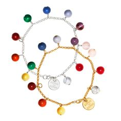 Sophie by Sophie bracelet semi precious stones, charity for Childhood Foundation - The Queen of Sweden has one!