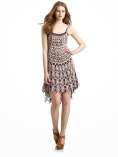 Irish crochet &: Платье перьями