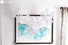 How To Make Paper Snowflakes - 2 Different Ways - One Good Thing by Jillee