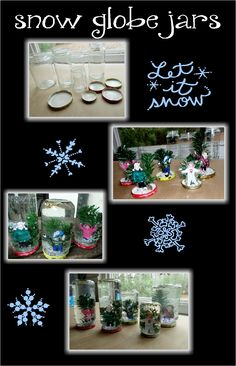 Snow globe jars for kids Awesome ideas and projects posted daily https://www.facebook.com/toddlertimetips