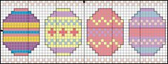 Free cross stitch pattern for 4 Easter eggs...looks like a great book mark to me!