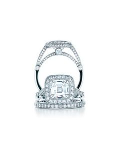 Tiffany Legacy ring;  My dream engagement ring, but I'd probably select a different wedding band ! xo