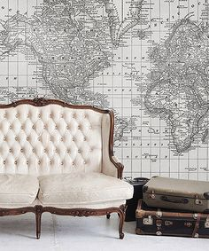 Take a look at this Black & White 1879 World Atlas Map Adhesive Print by Swag Paper on #zulily today!