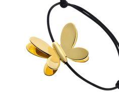 Arthus Bertrand Arthus Bertrand, Headphones, Jewels, Bracelet, Collection, Cords, Butterflies, Yellow, Black People