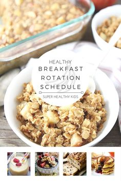 HEALTHY BREAKFAST ROTATION SCHEDULE! Do you struggle with knowing what to eat every morning? Want a fun way to involve the whole family at b...