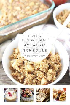 Healthy Breakfast Weekly Planner   Healthy Ideas for Kids