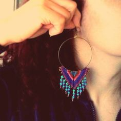 "38 ""Μου αρέσει!"", 1 σχόλια - callisto (@callistomacrame) στο Instagram: ""New Colorful macrame earrings!  Find us on Etsy: www.etsy.com/shop/callistomacrame #handmade…"""