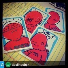 @abelincolnjr ・・・#abelincolnjr #ssc #secretstickerclub #elc #writedevil #sticker