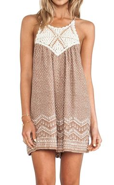 summer dress - would prefer a bit longer but I love this style and the crochet detail Cute Dresses, Cute Outfits, Summer Dresses, Vintage Dresses, Prom Dresses, Boho Fashion, Fashion Outfits, Fashion Trends, Dress Fashion