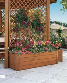 DIY Outdoor Privacy Screen Ideas It's good to have a beautiful backyard where you can have a quality time with your family & friends. Check out these DIY outdoor privacy screen ideas. Privacy Planter, Privacy Screen Outdoor, Privacy Screens, Yard Privacy, Privacy Trellis, Wood Trellis, Garden Trellis, Porch Trellis, Lattice Garden