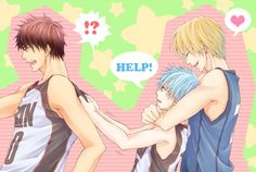 Aww~ Kuroko, you lucky *ss! ^w^ I would love to be in Kise's arm, but I get it-- Kagami's pretty cool, too! :P