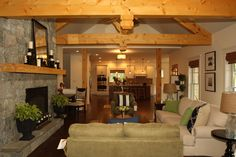 """Living Room in to Kitchen 2013 Parade of Homes Winner - """"Best Interior Design"""""""