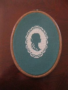 Pretty Cross Stitch Cameo