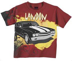 Joe's Bday - Boys Car Shirt, Personalized Cool Car Tshirt, Custom Childrens Clothing