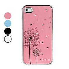 Amazon.com: Tanboo Dandelion Pattern Rhinestones Aluminium Case for iPhone 4 and 4S (Random Colors): Cell Phones & Accessories