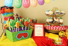 "Décor: Pinata, Sombreros and Maracas  {via GreyGrey Designs} ""Greyson's Skippyjon Jones Birthday Four-esta Party"""