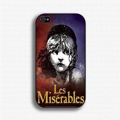 Les Miserables Iphone 4 4S Hard Case Cover. $9.95, via Etsy.