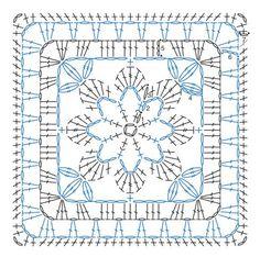 flower granny chart | Die besten 10 Ideen zu Flower Granny Square auf Pinterest | Omas ...