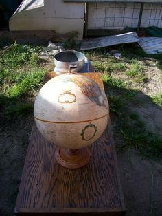 Replogle 12inch diameter Globe wood base The world by rustyitems, $40.00