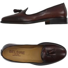Belsire  Milano Moccasins ($175) ❤ liked on Polyvore featuring shoes, loafers, brown, loafers moccasins, leather sole shoes, flat shoes, leather moccasin shoes and moccasin shoes