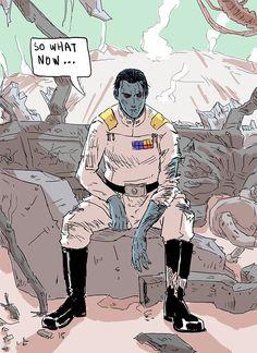 Sw Rebels, Star Wars Rebels, Star Wars Clone Wars, Star Wars Art, Grande Almirante Thrawn, Grand Admiral Thrawn, Arte Nerd, Star Wars Concept Art, Star Wars Comics