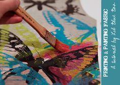 printing and painting fabric tutorial,#fabric_print,#print,#diy