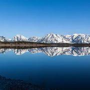 Desktop: Landscape, Mountains, Sea, Lake, Nature, Reflection, Snow, Winter, Ice, Arctic, Alps, Crater Lake, Mountain, Reservoir, Loch, Highland