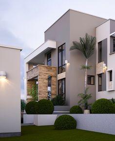 21 Most Popular Modern Dream House Exterior Design Ideas 17 – House Design Ideas Modern House Facades, Modern Exterior House Designs, House Paint Exterior, Dream House Exterior, Modern House Plans, Modern House Design, Exterior Design, Modern Architecture, Luxury Homes Exterior