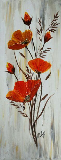 Peinture acrylique sur toile ch ssis 3d 20x50 mod le unique peint la main par raffin for Peinture acrylique sur toile