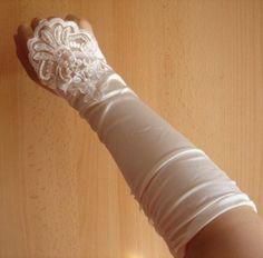 satin wedding gloves