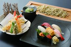 寿司・天ぷら・布のりそば膳
