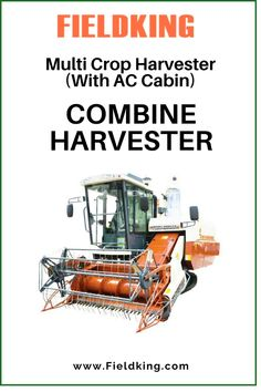 Introducing #Fieldking Multi-Crop Harvester with AC Cabin The Most innovative #Harvester for harvesting Multiple Crops is now the most comfortable one ! Best suitable for #wetlands and in harvesting paddy along with wheat, Barley,Soyabean,Corn etc.reach out to us at exports@fieldking.com, call us at +91-184-7156666 #CombineHarvester #harvesterprice #harvestermachine #combineharvestermachine #harvestermachineprice #combineharvesterprice #harvestermachinepriceinIndia #combineharvesterpriceinIndia Harvest Corn, Agriculture Machine, Combine Harvester, Cabins For Sale