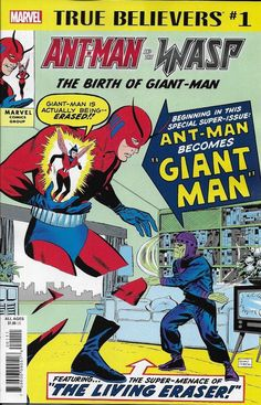 Marvel Ant Man And The Wasp True Believers Comic Issue 1 Classic Reprint