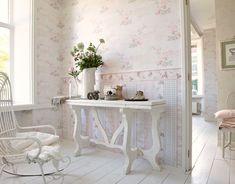 Tapete Landhaus Blumen creme rosa grün Djooz 95667-1