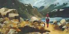 Hardangervidda - A gallery-quality illustration art print by Maike Plenzke for sale.