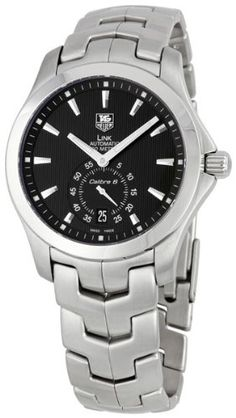 TAG Heuer Men's WJF211A.BA0570 Link Automatic Watch TAG Heuer's Link watch for men is an elegantly designed watch featuring a polished, stainless steel band, a polished, stainless steel 38-millimeter case, black dial, silver indexes at each hour, a date indicator at six o'clock, and a sub-dial for tracking seconds. This handsome timepiece is the perfect accessory for professional and formal ensembles. http://newtimepieces.com/tag-heuer-mens-wjf21...