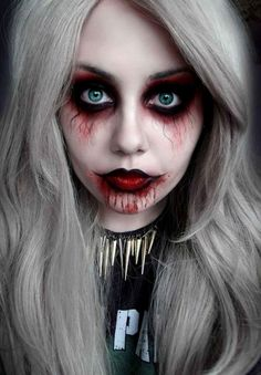 Scary halloween make up ideas for women cool DIY halloween ideas